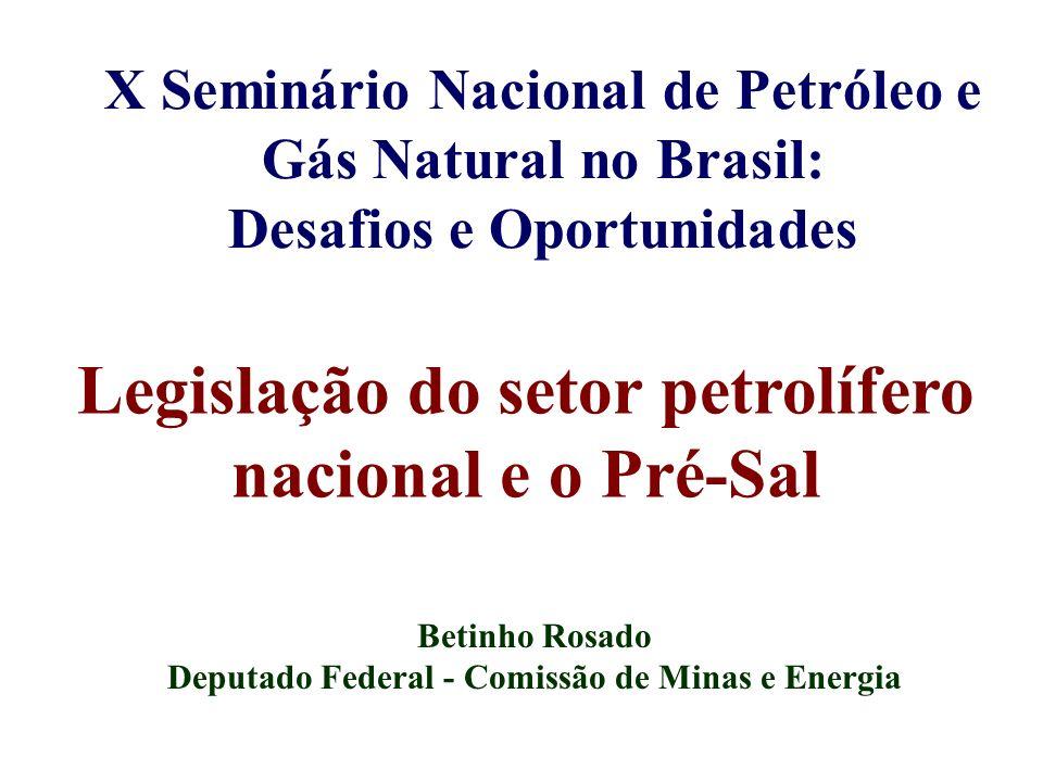 Legislação do setor petrolífero nacional e o Pré-Sal