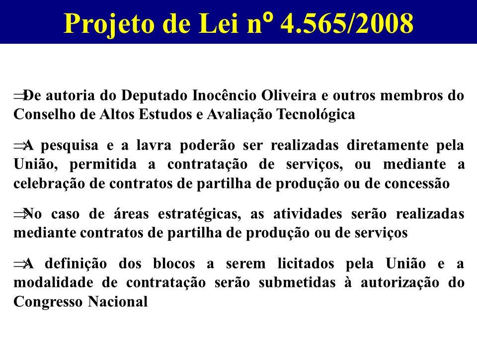 Projeto de Lei nº 4.565/2008 De autoria do Deputado Inocêncio Oliveira e outros membros do Conselho de Altos Estudos e Avaliação Tecnológica.