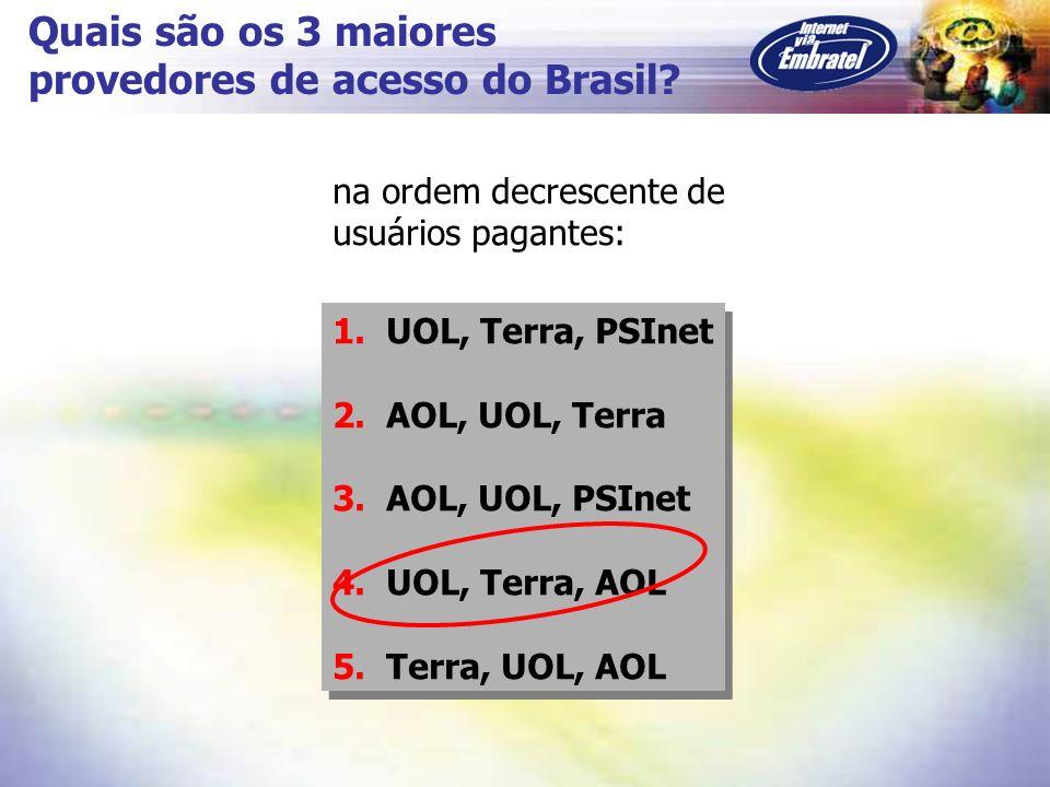 provedores de acesso do Brasil