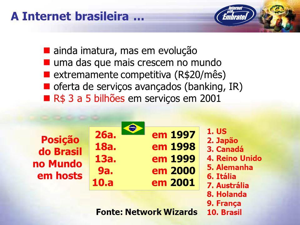 A Internet brasileira ... ainda imatura, mas em evolução