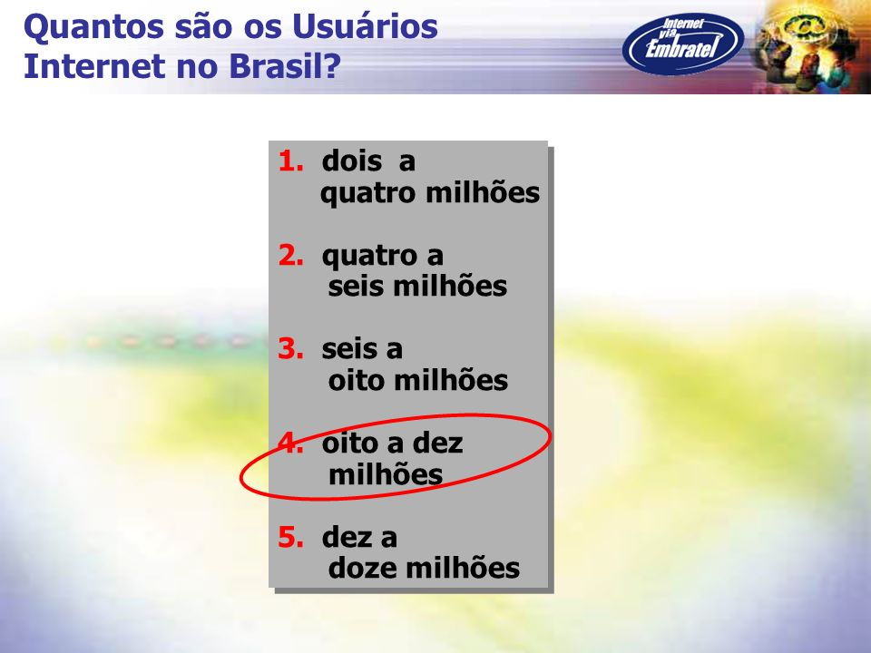 Quantos são os Usuários Internet no Brasil