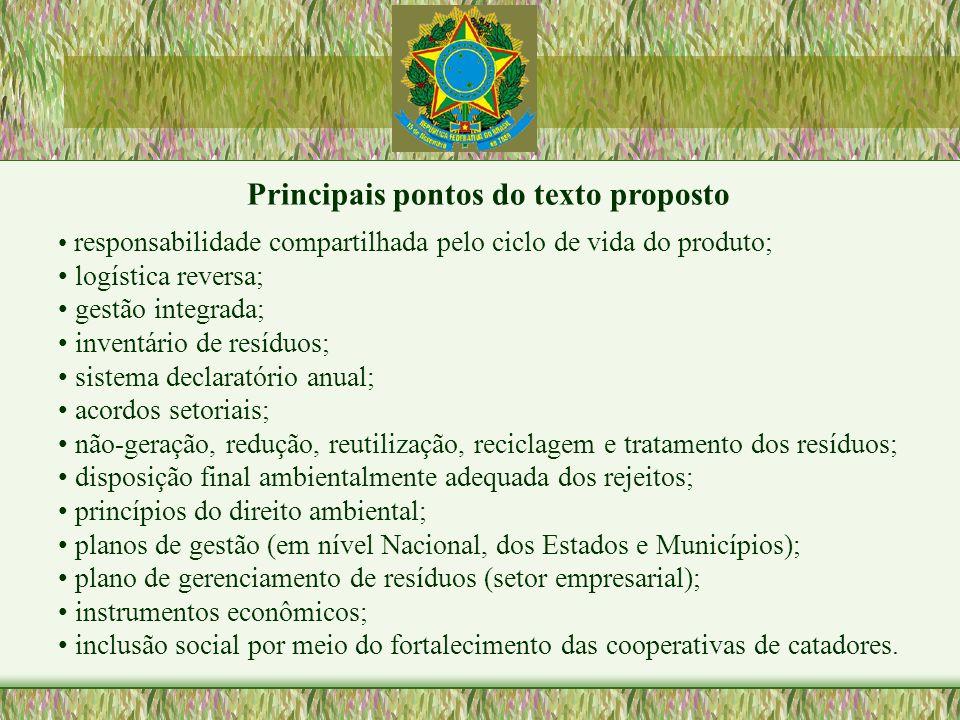 Principais pontos do texto proposto