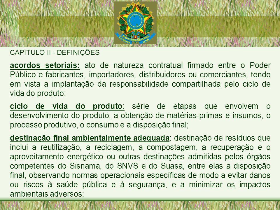 CAPÍTULO II - DEFINIÇÕES