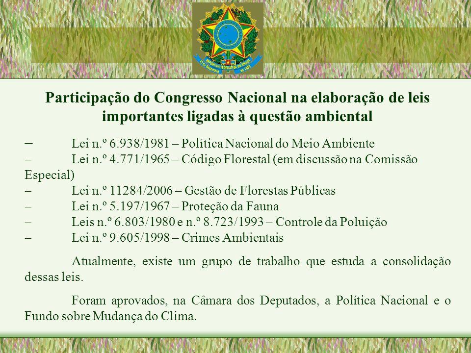 - Lei n.º 6.938/1981 – Política Nacional do Meio Ambiente