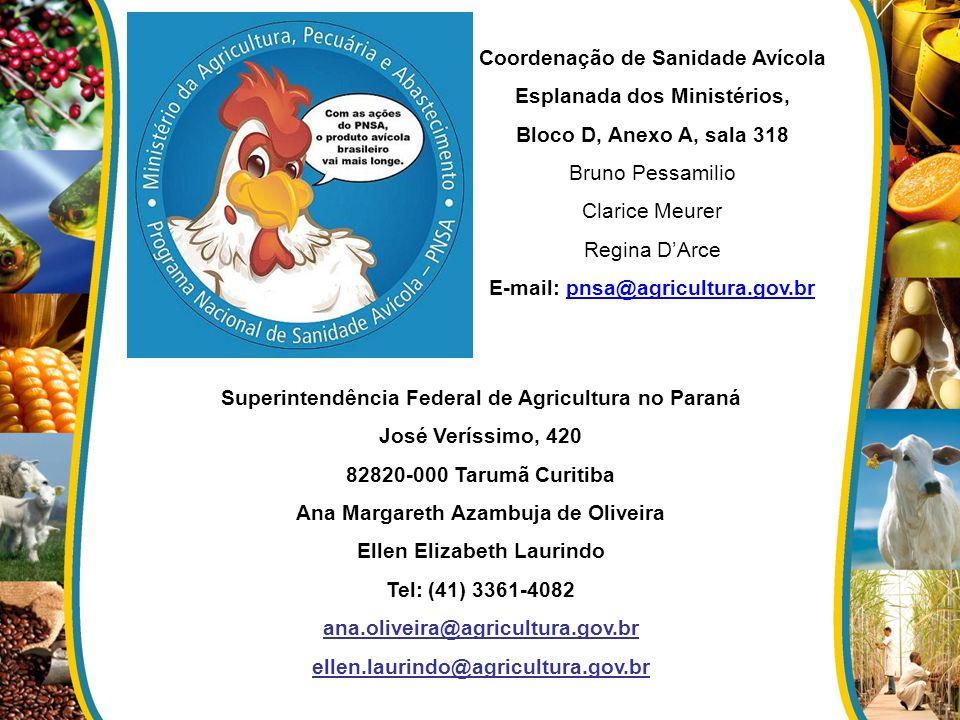 Coordenação de Sanidade Avícola Esplanada dos Ministérios,