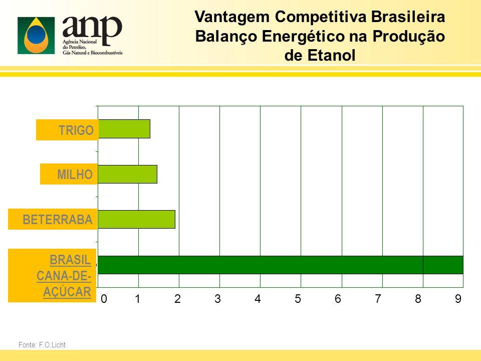 Vantagem Competitiva Brasileira Balanço Energético na Produção