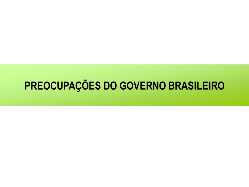 PREOCUPAÇÕES DO GOVERNO BRASILEIRO