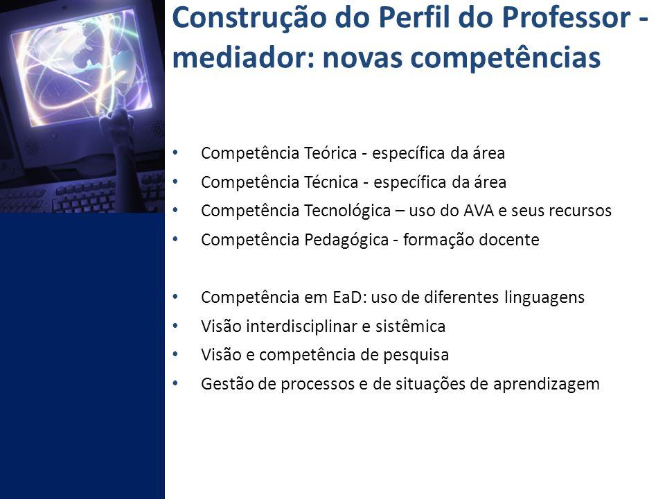 Construção do Perfil do Professor - mediador: novas competências