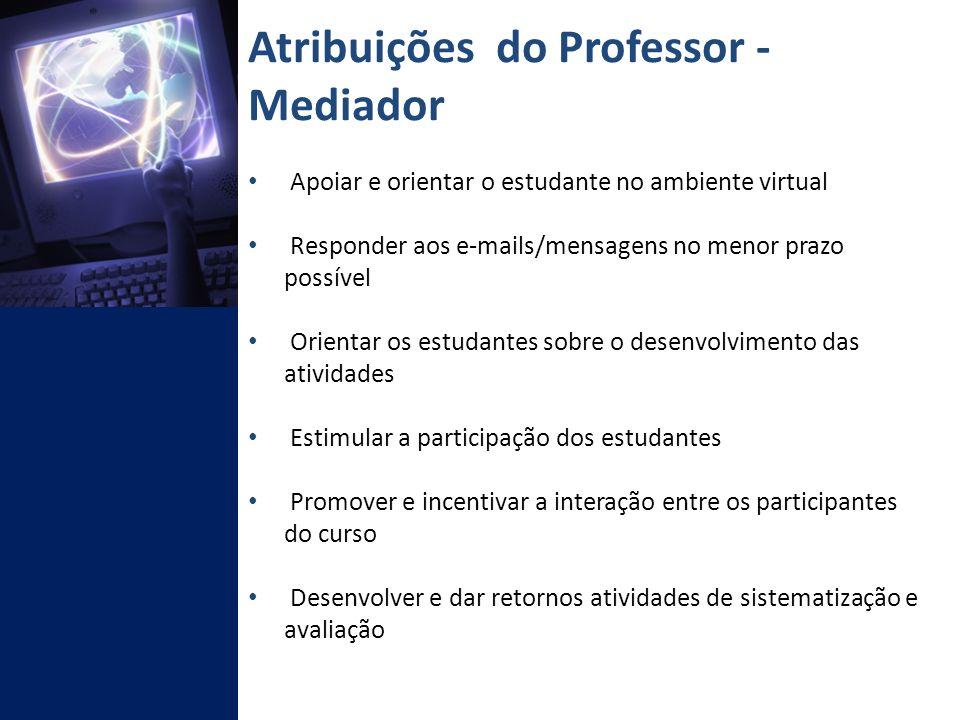 Atribuições do Professor - Mediador