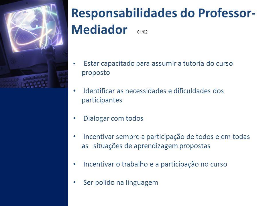 Responsabilidades do Professor- Mediador