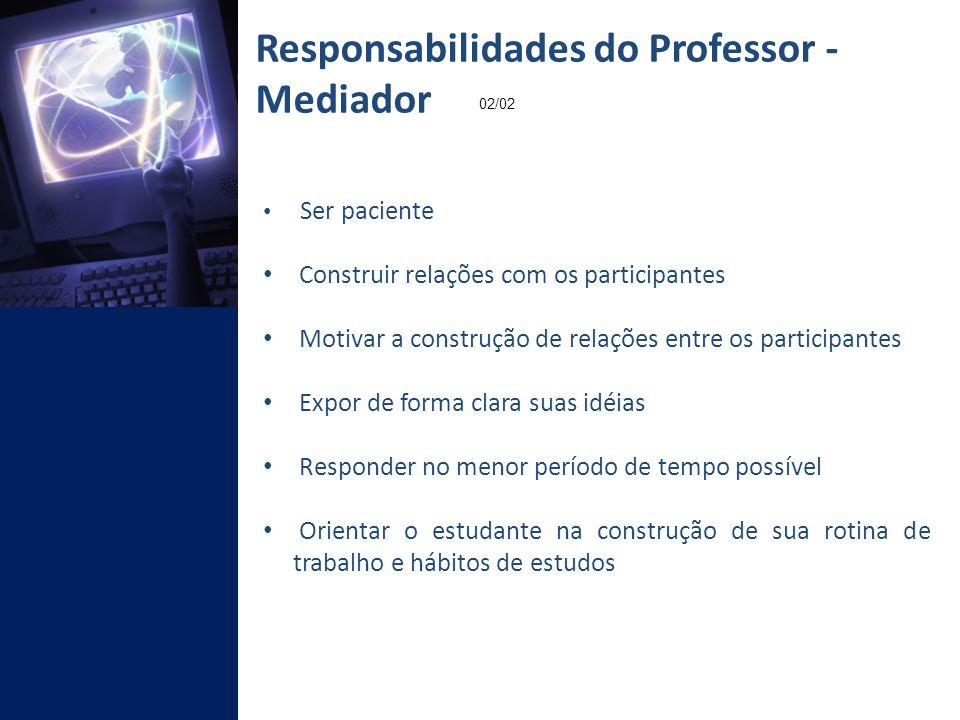 Responsabilidades do Professor - Mediador