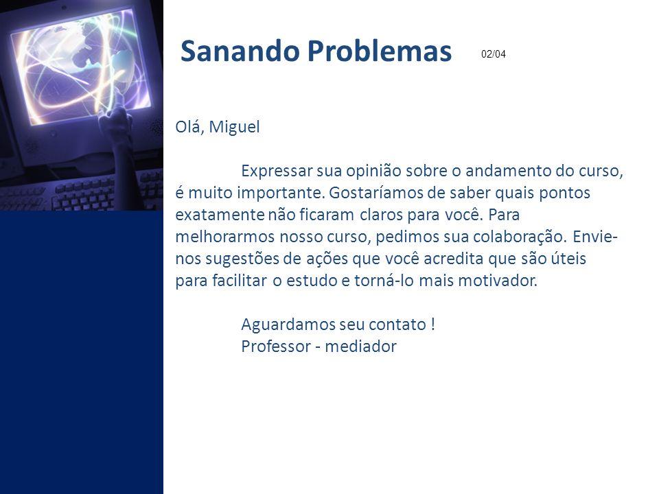 Sanando Problemas Olá, Miguel