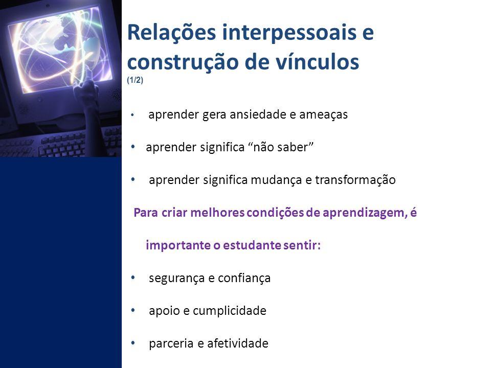 Relações interpessoais e construção de vínculos (1/2)