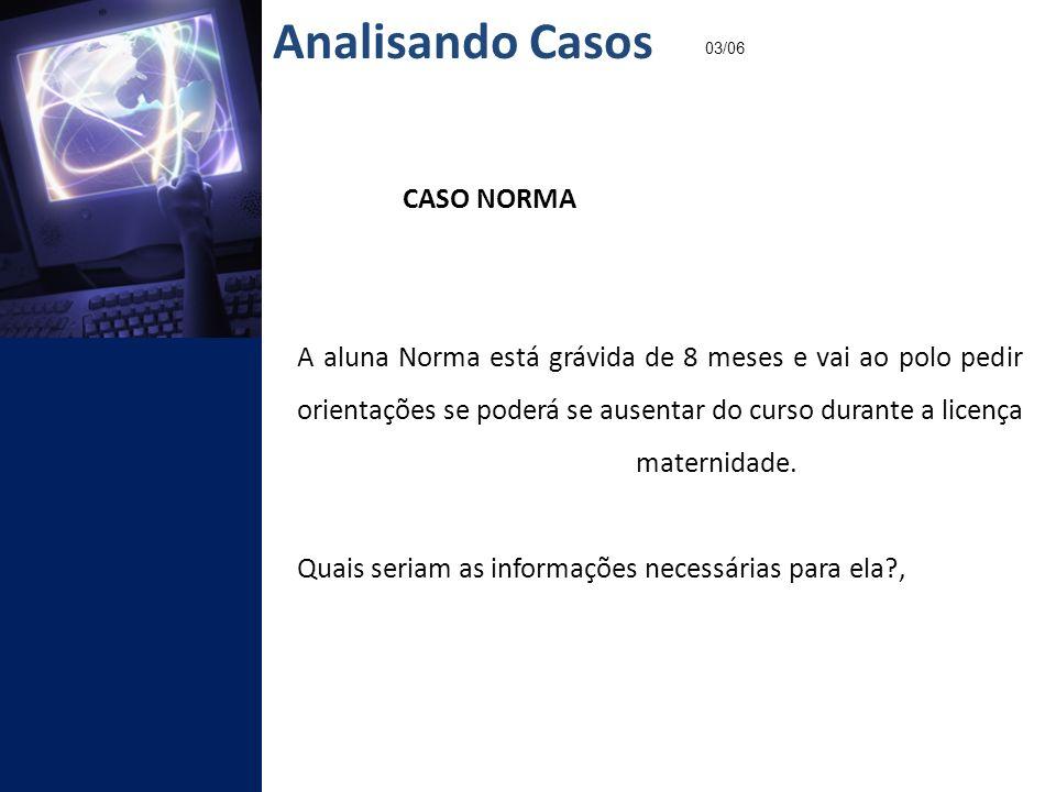 Analisando Casos 03/06. CASO NORMA.