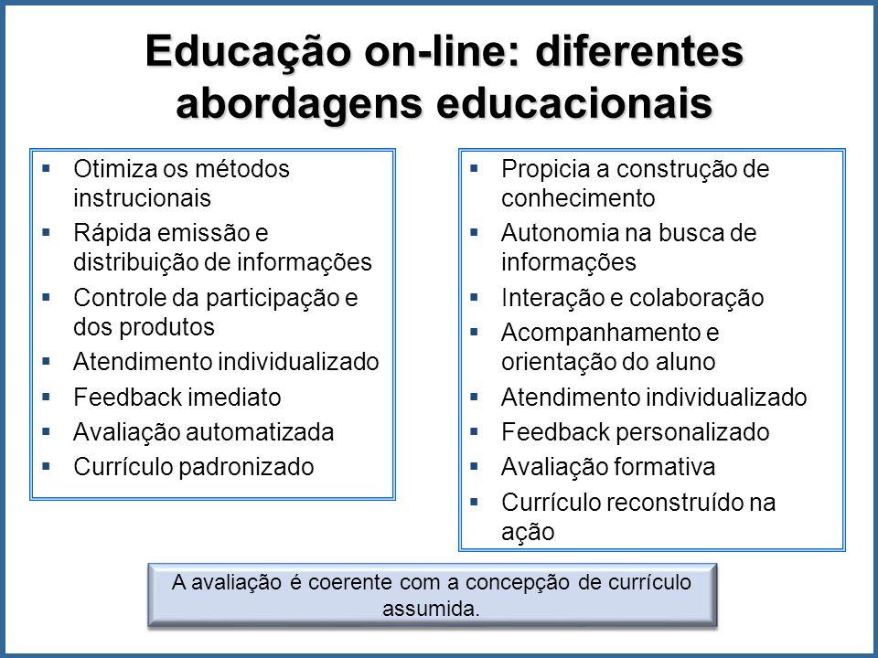 Educação on-line: diferentes abordagens educacionais