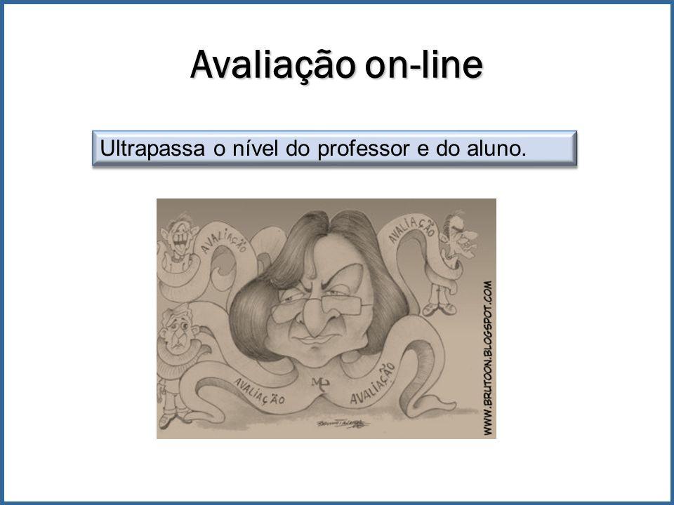 Avaliação on-line Ultrapassa o nível do professor e do aluno.