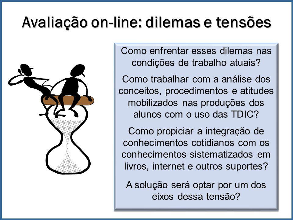 Avaliação on-line: dilemas e tensões