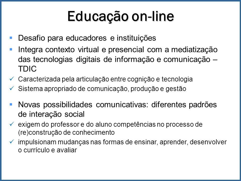 Educação on-line Desafio para educadores e instituições