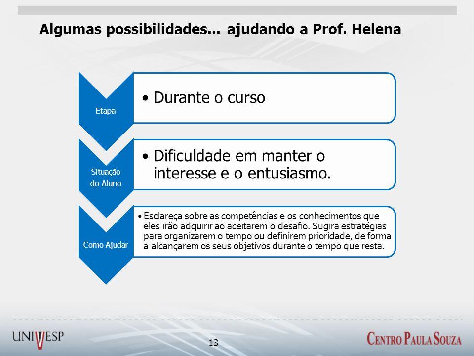 Algumas possibilidades... ajudando a Prof. Helena