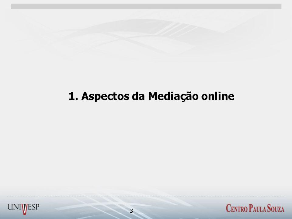 1. Aspectos da Mediação online