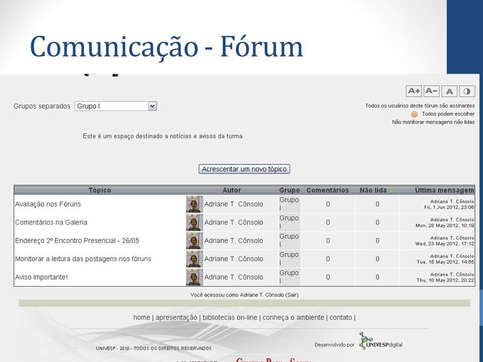 Comunicação - Fórum