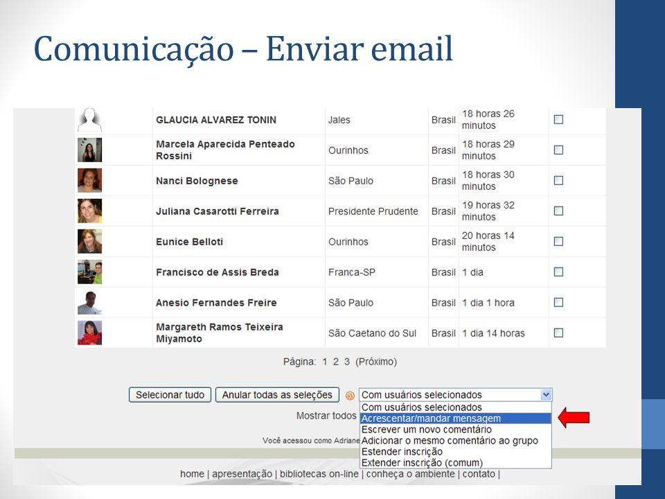 Comunicação – Enviar email