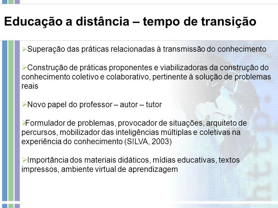 Educação a distância – tempo de transição