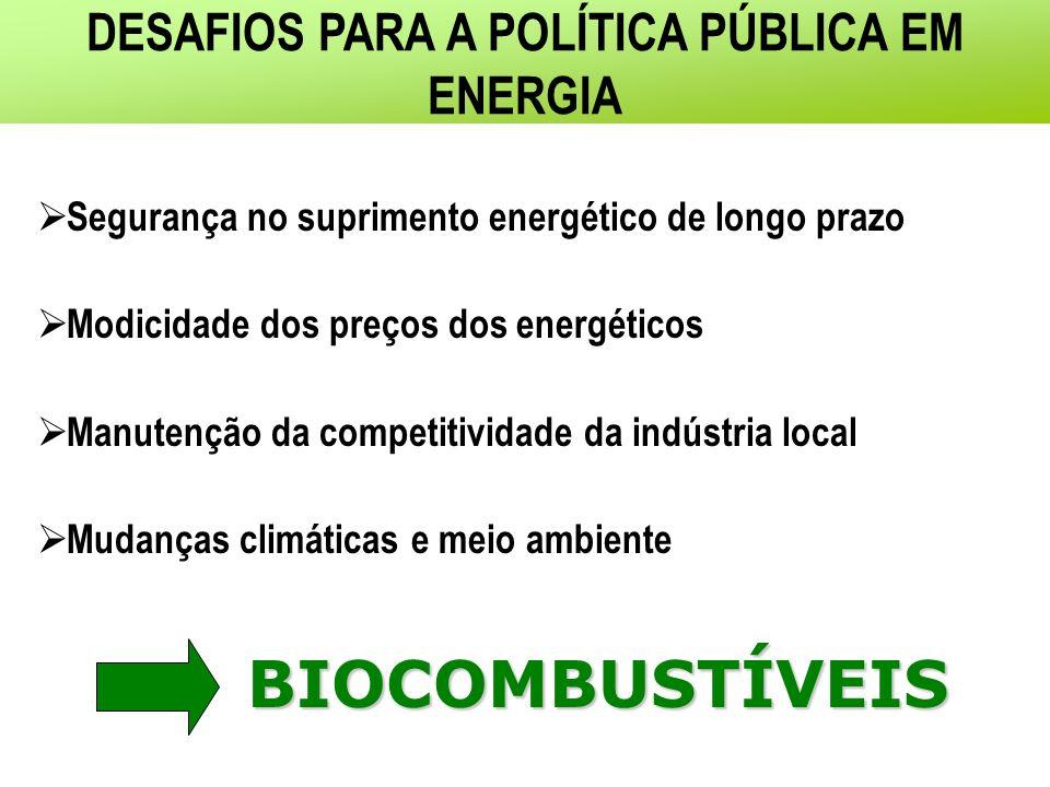 DESAFIOS PARA A POLÍTICA PÚBLICA EM ENERGIA