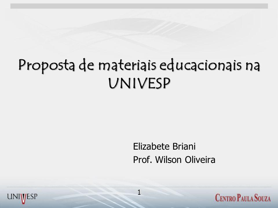 Proposta de materiais educacionais na UNIVESP