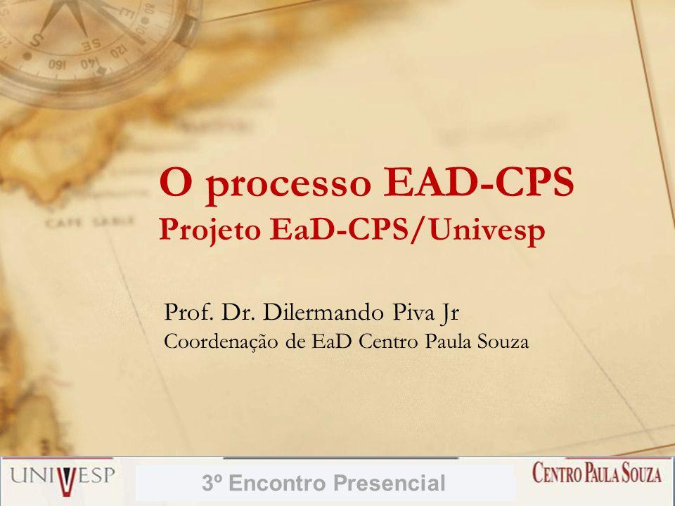 O processo EAD-CPS Projeto EaD-CPS/Univesp