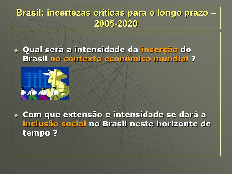 Brasil: incertezas críticas para o longo prazo – 2005-2020