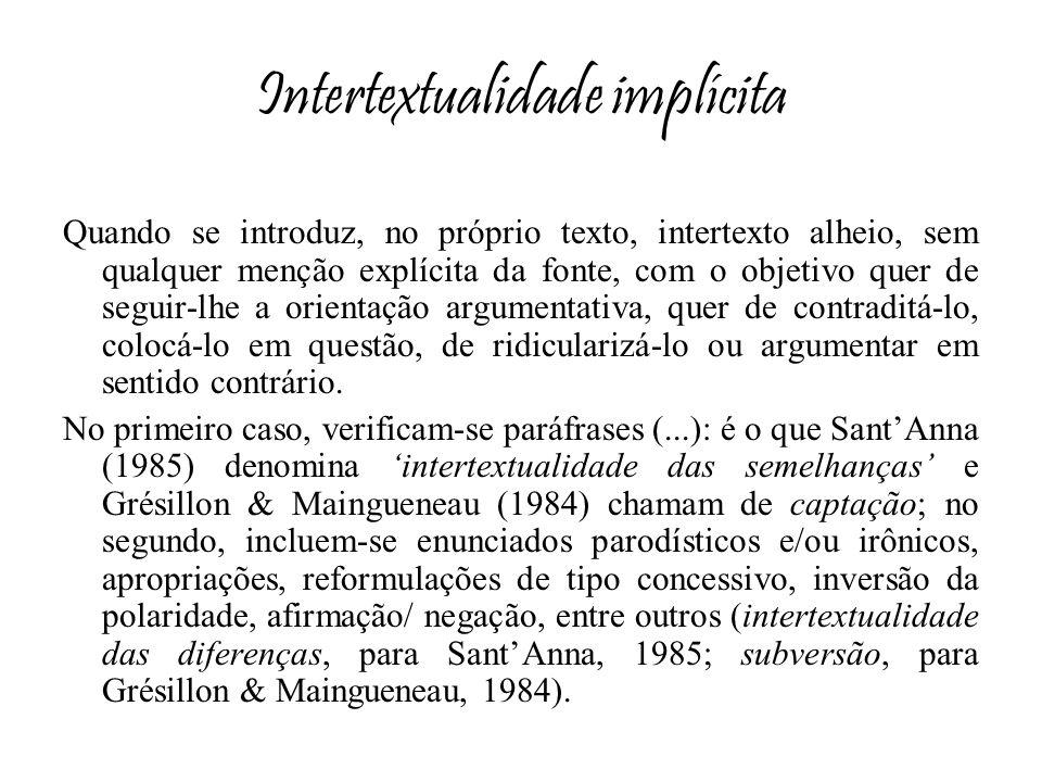 Intertextualidade implícita