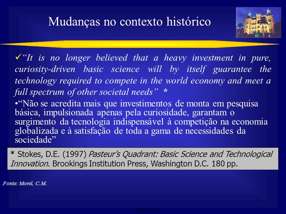 Mudanças no contexto histórico