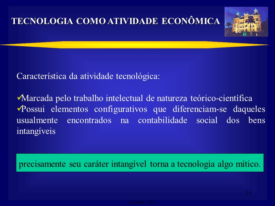 TECNOLOGIA COMO ATIVIDADE ECONÔMICA