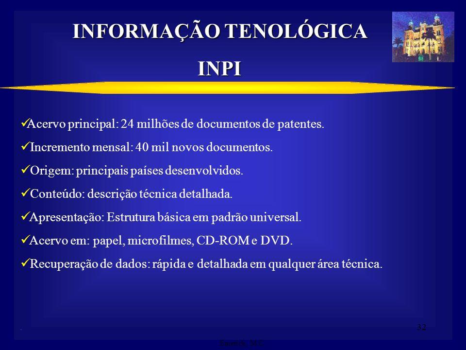 INFORMAÇÃO TENOLÓGICA