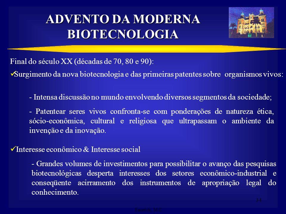 ADVENTO DA MODERNA BIOTECNOLOGIA