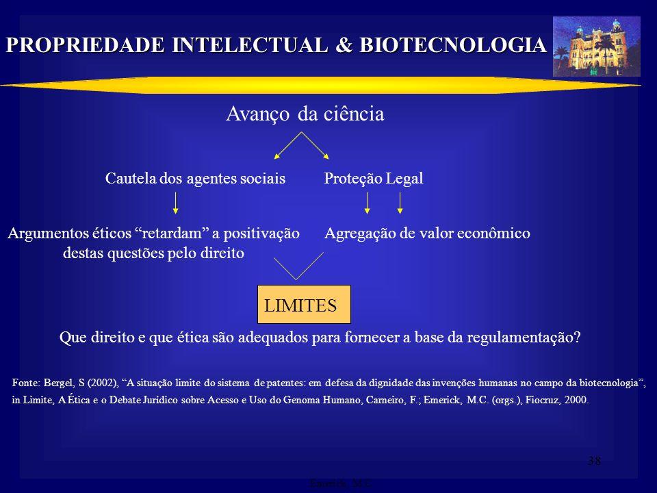 PROPRIEDADE INTELECTUAL & BIOTECNOLOGIA