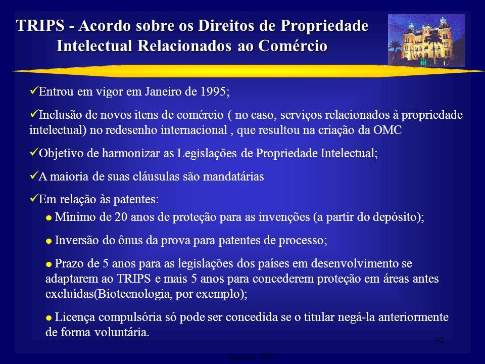 TRIPS - Acordo sobre os Direitos de Propriedade Intelectual Relacionados ao Comércio