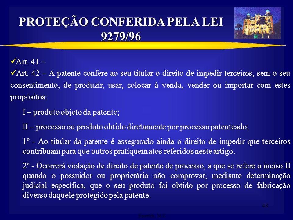 PROTEÇÃO CONFERIDA PELA LEI 9279/96