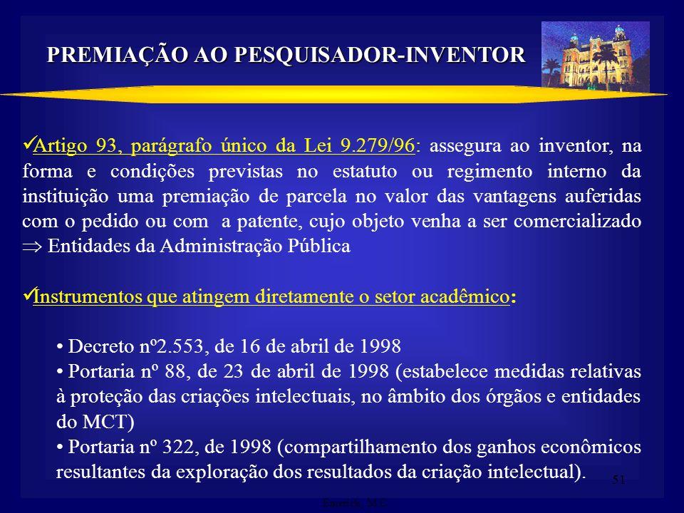 PREMIAÇÃO AO PESQUISADOR-INVENTOR