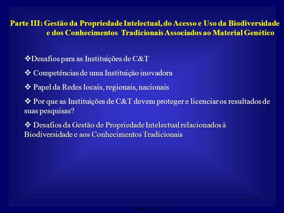 Desafios para as Instituições de C&T