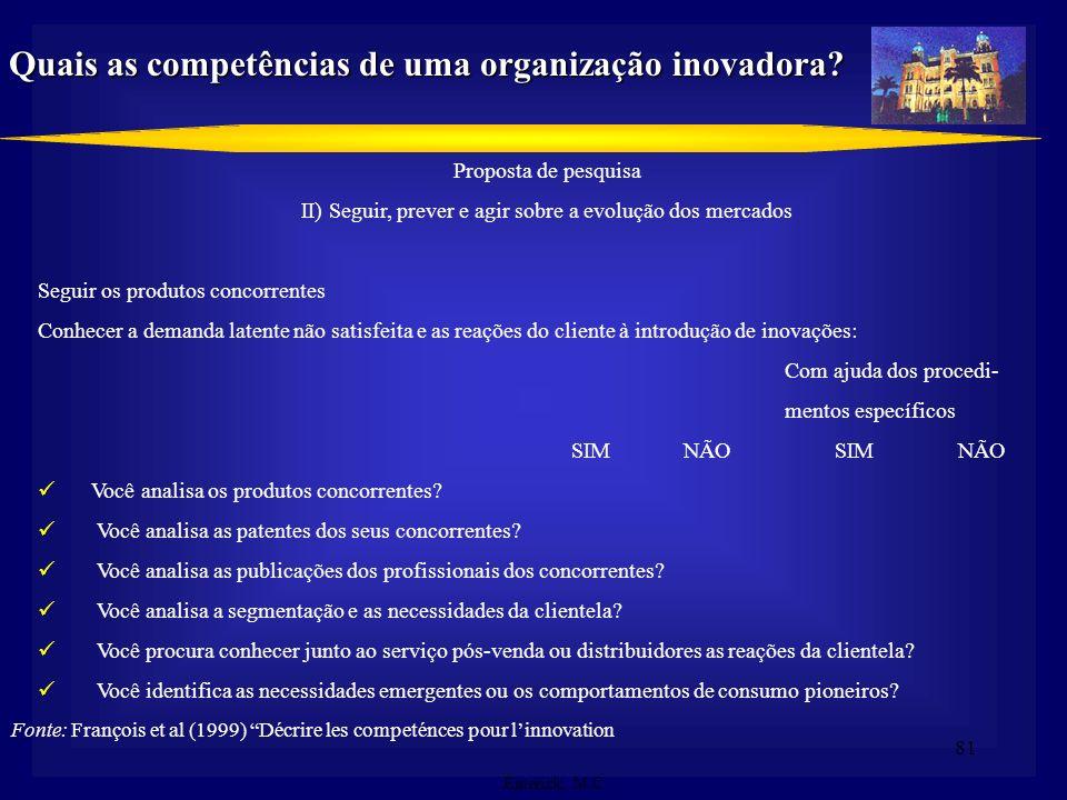 Quais as competências de uma organização inovadora