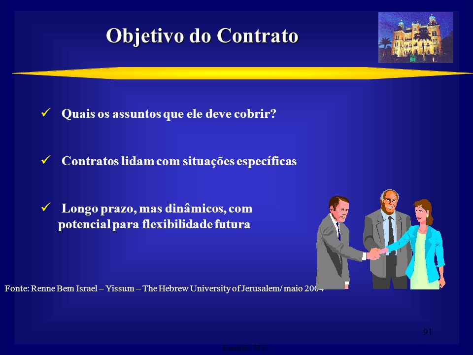 Objetivo do Contrato Quais os assuntos que ele deve cobrir