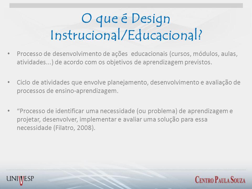 O que é Design Instrucional/Educacional