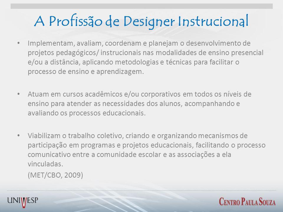 A Profissão de Designer Instrucional