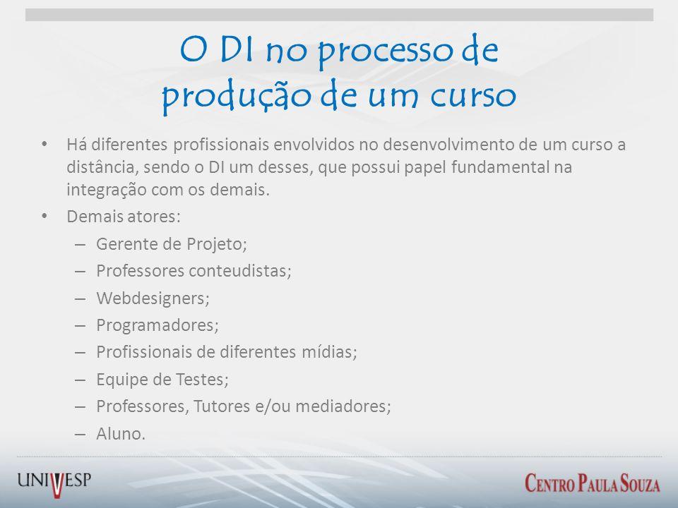 O DI no processo de produção de um curso