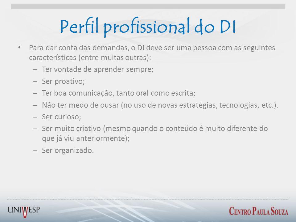 Perfil profissional do DI