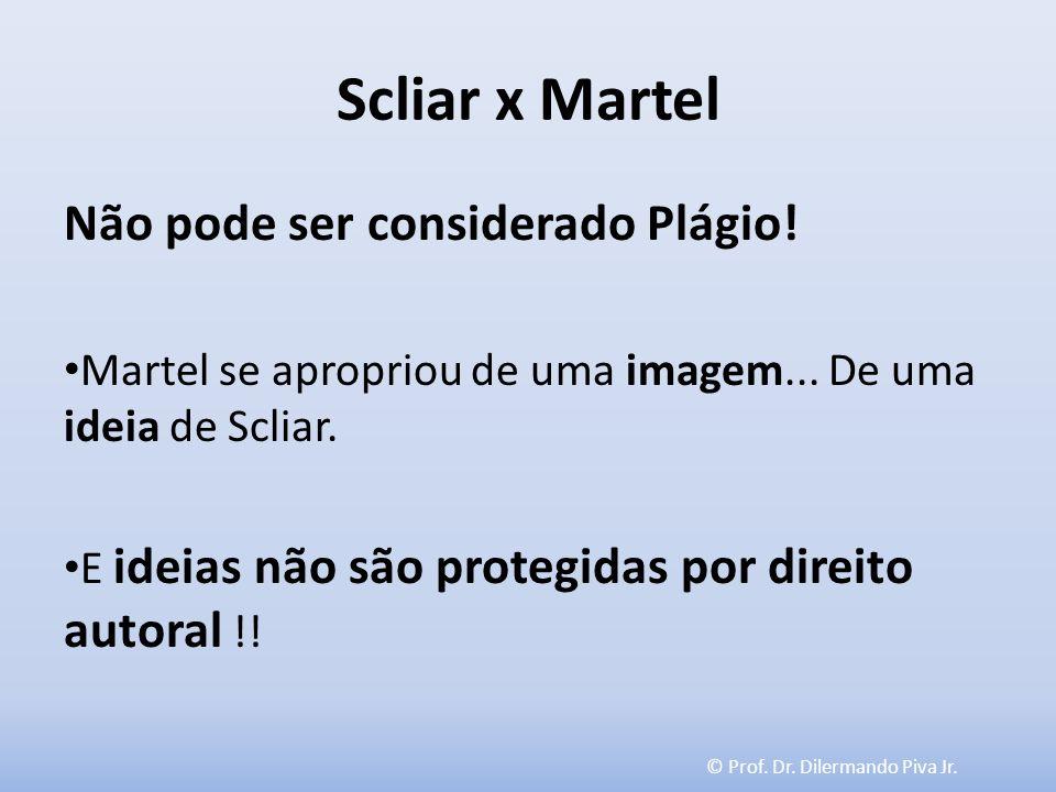 Scliar x Martel Não pode ser considerado Plágio!