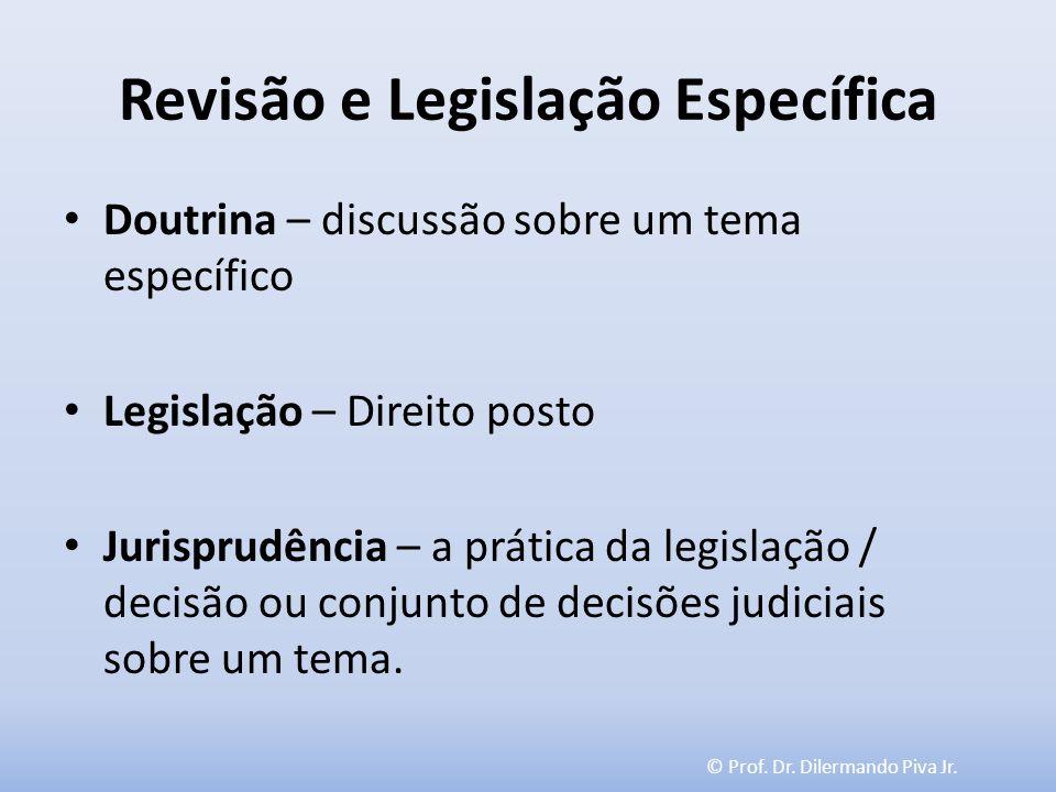 Revisão e Legislação Específica