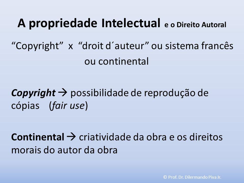 A propriedade Intelectual e o Direito Autoral